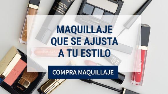 Productos de la línea de Maquillaje Artistry, labiales, sombras, rubor, brillo. Muéstrale al mundo lo mejor de ti con una piel radiante, colores vibrantes.
